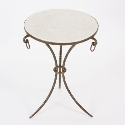 Mid-Twentieth Century French Marble Top Side Table