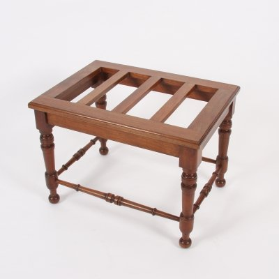 Early Twentieth Century Luggage Rack With Turned Mahogany Stretchers