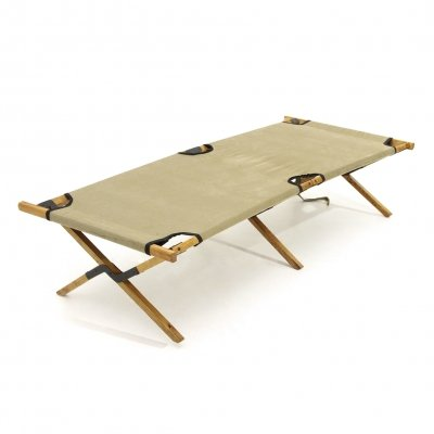 Midcentury outdoor daybed in wood by Carlo Enrico Rava, 1940's