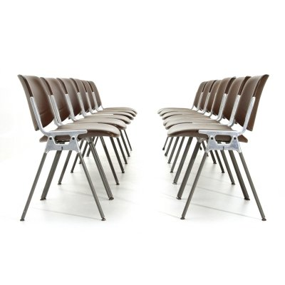 12 'DSC 106' chairs by Giancarlo Piretti for Castelli, 1960's