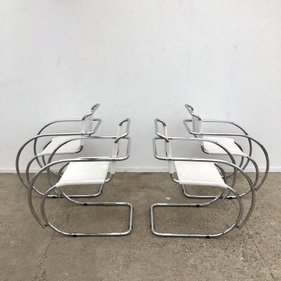 Set of 4 Vintage 'MR-20' armchairs by Mies van der Rohe for Fasem, 1970s