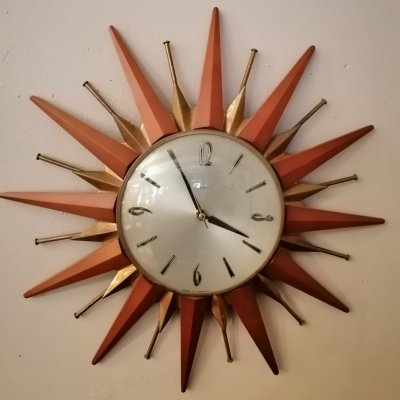 Vintage wall clock, England 1960s