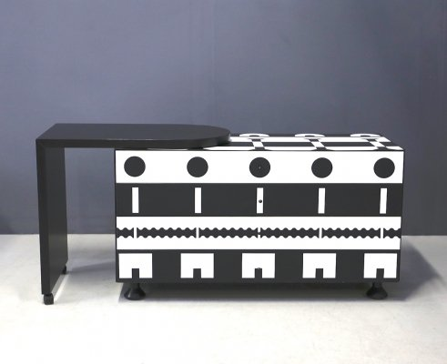 Black & White 'Series Ollo' dresser by Alessandro Mendini for Alchimia Design, 1980s