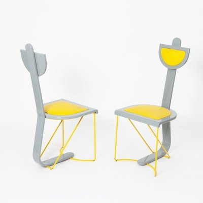 Pair of Postmodern Chairs, 1980s