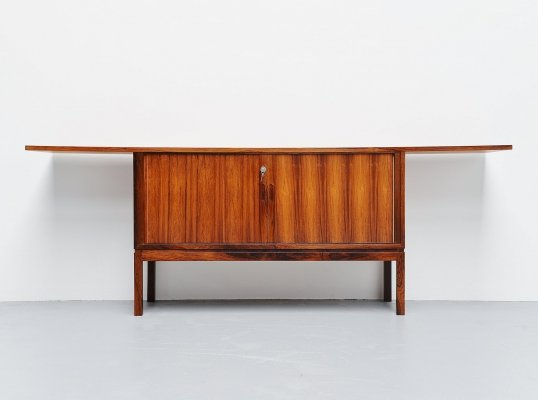 Unusual shaped Danish rosewood drybar cabinet, Denmark 1960