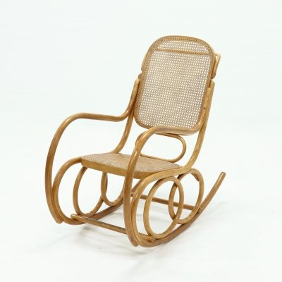 Vintage Bentwood Rocking Chair by Ligna Czechoslowakia, 1960s