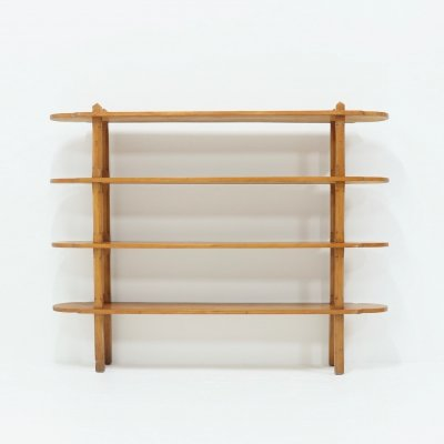 French Bookcase Room Divider in Solid Elm, 1950s