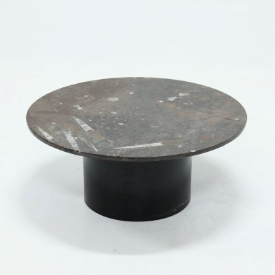 Rare Fossil Stone Coffee Table by Metaform, 1970s