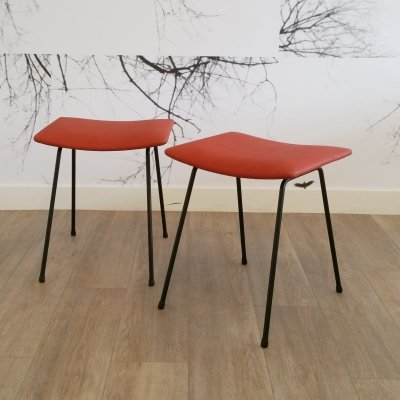 Set of 2 Stools by W.H. Gispen for Kembo, 1950s
