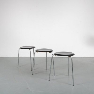 'Dot' stools by Arne Jacobsen for Fritz Hansen, Denmark 1950s