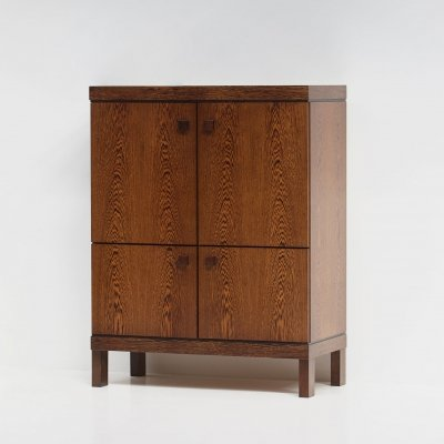 Decorative bar cabinet in wenge wood, 1970s