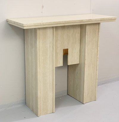 Travertine console, 1970s