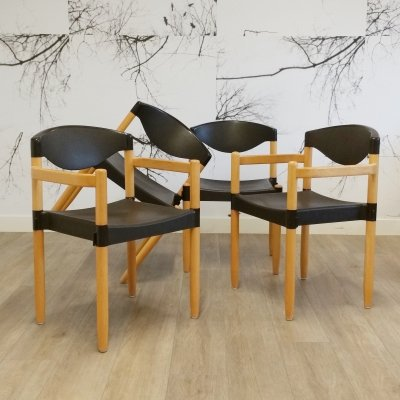 Set of 4 Strax Dining Chairs by Hartmut Lohmeyer for Casala, 1984