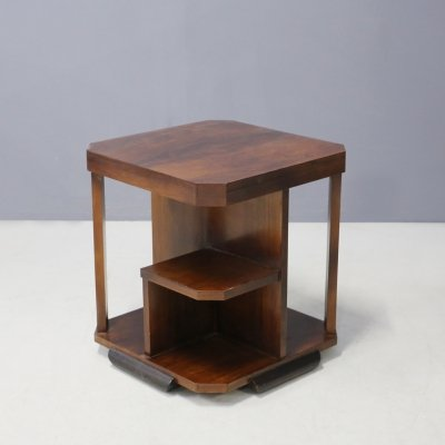 Art Deco Gio Ponti Coffee Table in Walnut, 1930s