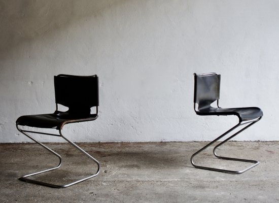 Pair of Bisca Chairs by Pascal Mourgue, 1960's