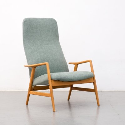 Kontour reclining lounge chair by Alf Svensson, 1950s