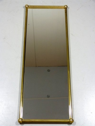 Large Brass Wall Mirror, 1960's