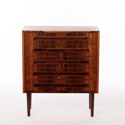 Vintage Danish rosewood medium sized chest of drawers, 1960's