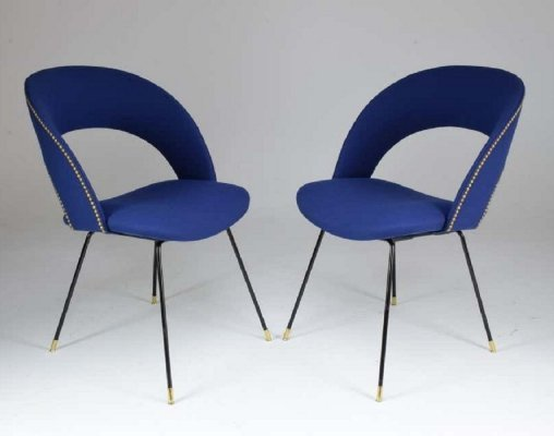 Set of Two Italian Chairs by Gastone Rinaldi for Rima, 1950s