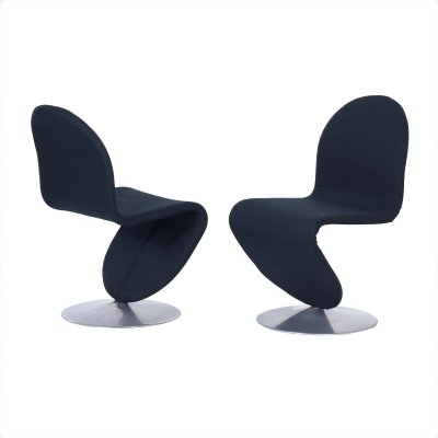 Set of 2 System 123 Chairs by Verner Panton for Fritz Hansen, 1970s
