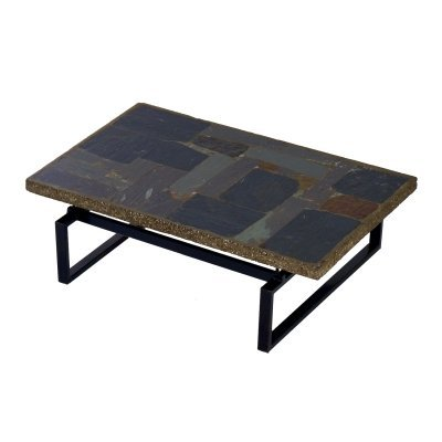 Brutalist Coffee Table with Mosaic by Paul Kingma, 1970s