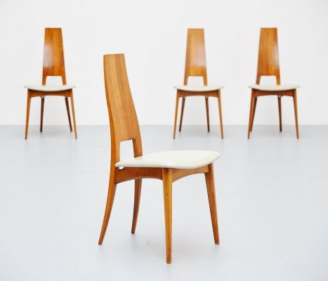 Set of 4 dinner chairs, Italy 1950s