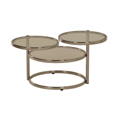 3 tops Glass Coffee Table by Leitmotiv, 1990s