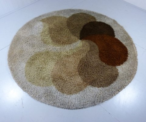 Large round carpet by Desso, Netherlands 1960's