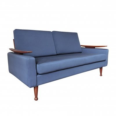 Navy Blue Sofa Bed by Greaves & Thomas, 1960s