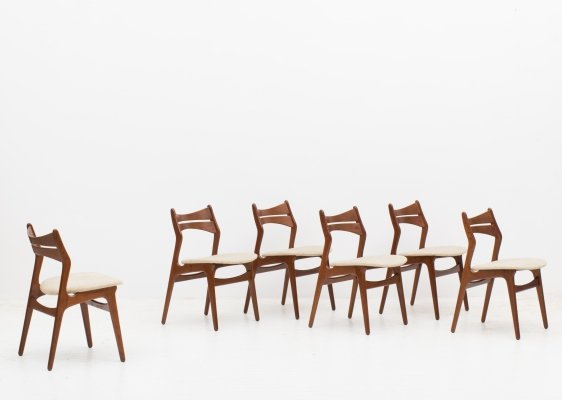 Set of 6 dining chairs 'model 310' by Erik Buch, Danish design 1960's