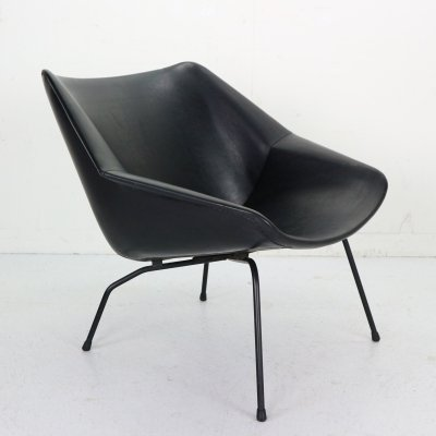 Dutch Black Easy Chair FM08 by Cees Braakman for Pastoe, 1959
