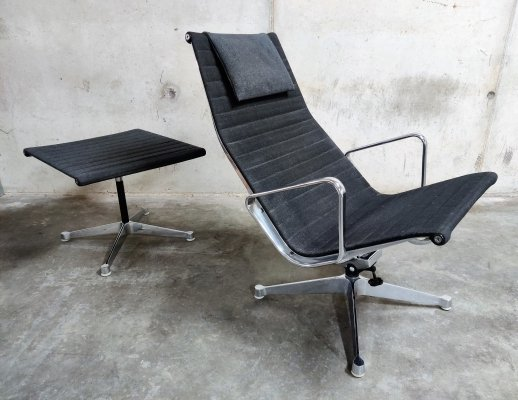 Charles & Ray Eames EA124 & EA125 Lounge chair & ottoman