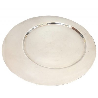 Silver Plated Round Tray by Gio Ponti for Cleto Munari, circa 1970