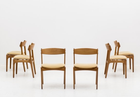 Set of 6 dining chairs 'model 49' by Erik Buch for O.D. Møbler, Denmark 1960's