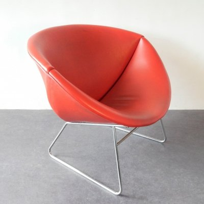 Eye-catching Cocco lounge chair by J.H. Rohe for Rohé Noordwolde, 1970's