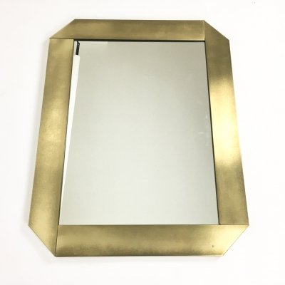 Italian brass wall mirror by Valentin & Co, 1970s