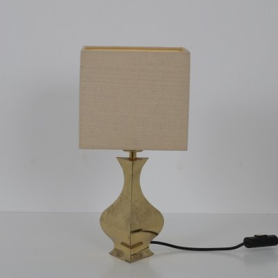 Small brass table lamp, France 1970s