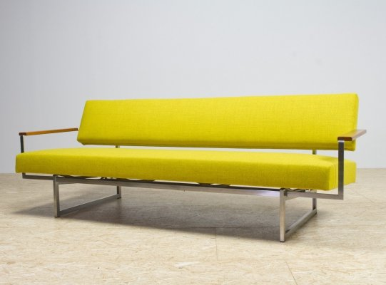 Modernist 3-Seat Lotus 25 Sofa in yellow by Rob Parry, 1960s