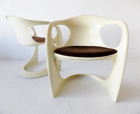 Set of 2 Casalino dining chairs by Alexander Begge for Casala, 1970s
