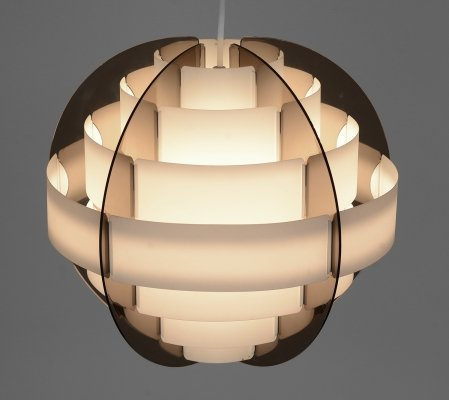 Pendant light 'Strips' by Brylle & Jacobsen for Quality System, Denmark 1970s