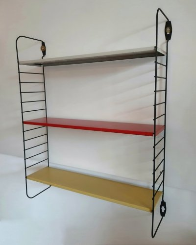 Pocket shelving wall unit by A. Dekker for Tomado, 1960s