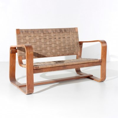MidCentury Sofa by Giuseppe Pagano & Gino Maggioni in Rope & wood, 1941