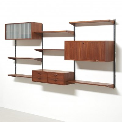FM Wall unit in teak by Kai Kristiansen, 1960s