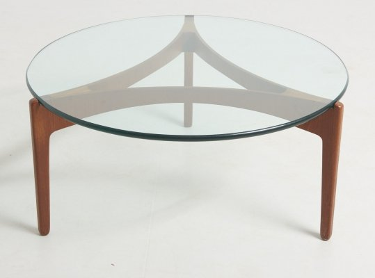 Three legged coffee table by Sven Ellekaer, Denmark 1960's