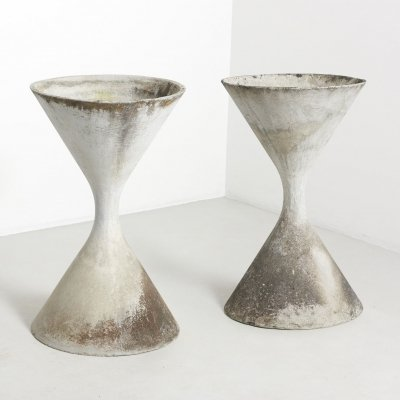 Set of two Diabolo planters by Willy Guhl, Switzerland 1950's
