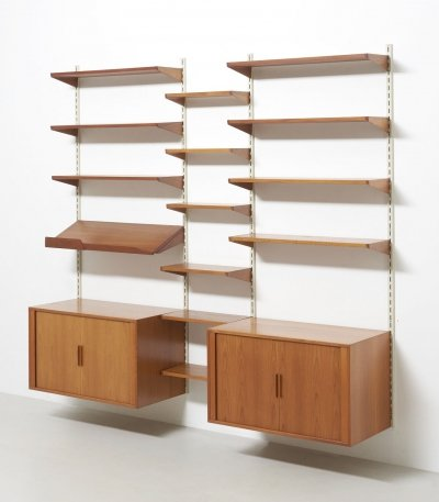 FM wall unit in teak by Kai Kristiansen, Denmark 1960s