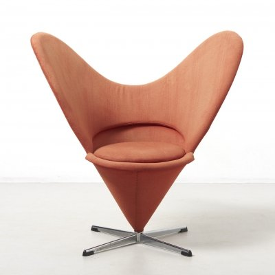 Heart cone chair by Verner Panton, Denmark 1950's