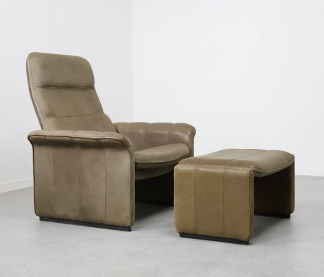 DS 50 chair + ottoman by De Sede, 1970s