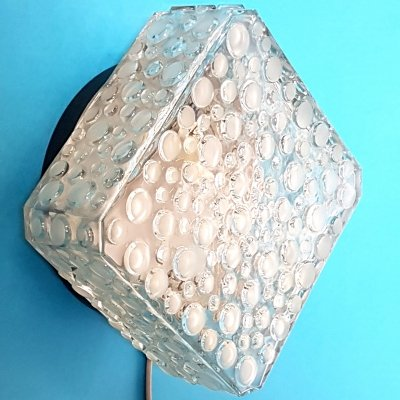 Square wall lamp by Glashutte Limburg, Germany 1960s