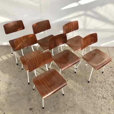 Set of 7 dining chairs by A.R. Cordemeyer for Gispen, 1960s